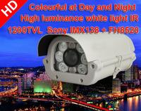 1200TVL HD SONY138+8520 Mega pixel CS Lens IR-Cut CCTV Security camera White light IR LED Full color Day&Night
