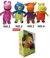 Free shipping baby toys The Backyardigans Uniqua/Tasha/Tyrone/Pablo plush toy musical brinquedos baby 1 piece
