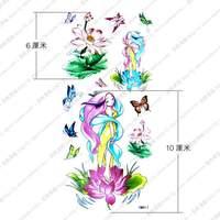 Tattoo stickers waterproof female lotus butterfly tattoo stickers ym411