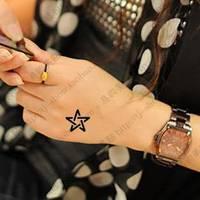 Waterproof tattoo sticker hexagram personalized hm546