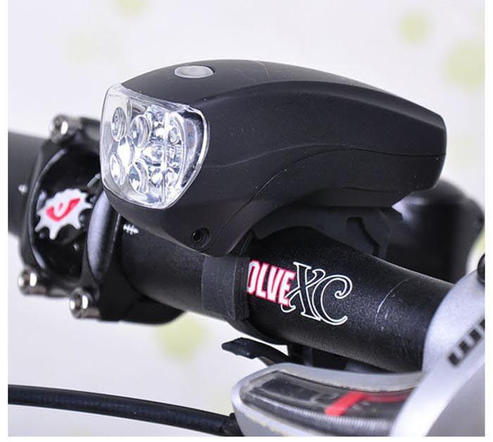 [해외] 1pc  Super Bright 5 LED Front Head Light Lamp Fla..