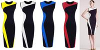 New 2014 Vestidos Women Summer Vintage Sleeveless Knee Length Bodycon Pencil Slim Bandage Casual Brief Dress Plus Size XS-XXL