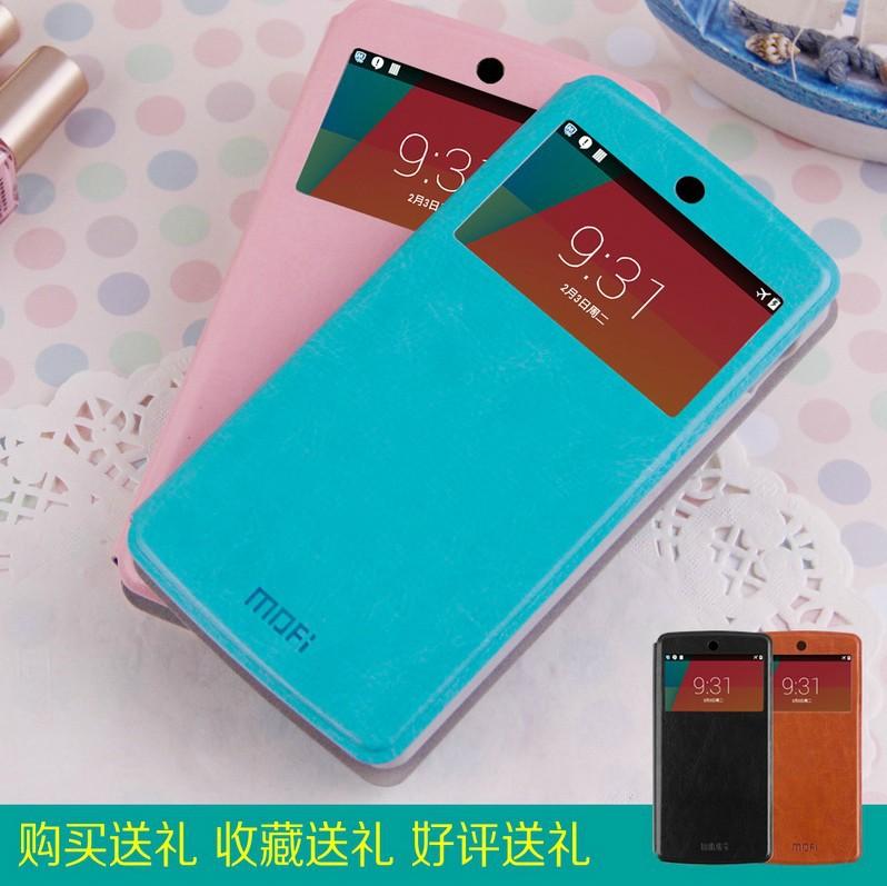 Frete Grátis 2014 Nova Alta Qualidade do Janela Capa flip caso de couro de luxo para LG Google Nexus 5 Case habitação(China (Mainland))