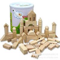 Wooden Educational Toys Building Blocks Forest Castle Wood Color KY04