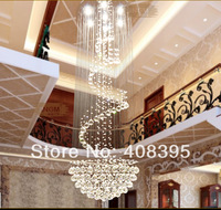 Free Shipping 2014 Elegant Modern Crystal Chandelier Light Fixture large Stair Crystal Lamp 100% Guanrantee