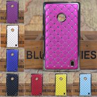 Bling Diamond Luxury Hard Case For Nokia Lumia 520 Nokia 520 525 N520 Back Cover Plastic Case+Free Gifts