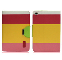 Hybrid Color Magnetic Wallet PU Leather Smart Cover Case for iPad mini Wake / Sleep function !