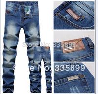 2014 New Fashion Men's Designer Jeans Famous Brand,Cotton Denim Straight Black Jeans Men Brand,Man Trousers Plus Size 28-36