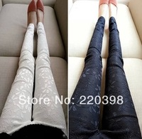 2014 hot sale women fashion  lace embroidered slim pencil casual women's long trousers 580