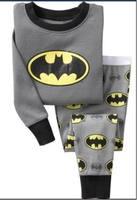 New Brand  Baby Boys girls Batman pajamas long sleeve pyjamas bodysuit kids sleepwear  boys  pajamas kids pyjamas
