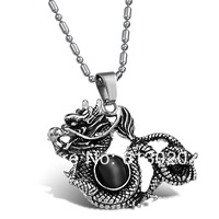 Royal Vintage Style Dragon  Pendant Necklace For Cool Men