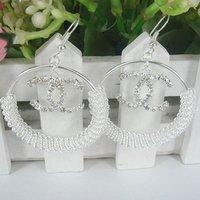 12pcs  (6 pair )  Fashion silvery white big circle earrings