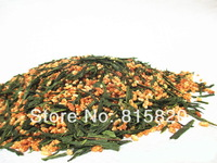 Free Shipping 250g Premium Brown Rice Green Tea Genmaicha Sencha with the rice