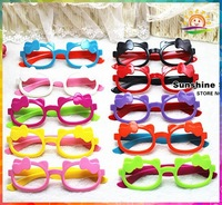 Cute Cartoon Kid Children Girls kitty bow Kids bow Spectacle eye glasses for kids glasses frames #8A0005 24pcs/lot(11 colors)