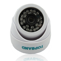 Plastic IR dome camera, 900TVL HDIS  high resolution, indoor using