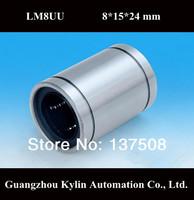 On Sale! 10 pcs LM8UU/LB8UU Linear Bearing 8x15x24 mm,free shipping 8 mm Caliber Standard linear bearings