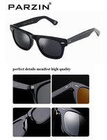 Men Acetate Sunglasses Black Wayfarer Design Handmade Sun Glasses Women man Polarized Eyewear 2140-1