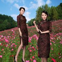 2014 women's national trend three quarter sleeve banquet wedding cheongsam