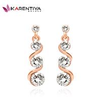 2014 new Female fashion austrian crystal long design drop earrings For Women Wedding