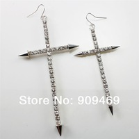 Hot Sale Alloy Rhinestone Cross Earring Jewelry For Women,EF301032S