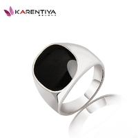 Personalized ring titanium male ring finger ring black glaze