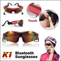 Famous Brand Gonbes K1 Bluetooth Sunglasses Outdoor Sports Cycling Glasses with 3 Kinds Lens