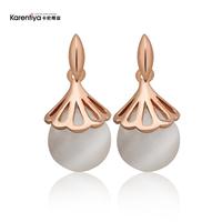 National trend - eye stud earring fashion flower earrings female fashion vintage earrings no pierced female