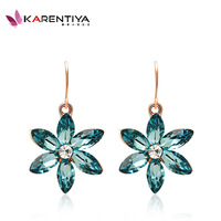 2014 summer  jewelry  emerald green austrian crystal cute earring female