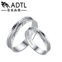 Silver ring jewelry wholesale 925 sterling silver couples female ring kiss this life lovers to buddhist monastic discipline