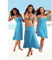beach 2013 new fashion beach dress fashion bikini outside shirt tie skirt beach one-piece dress