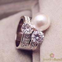 Ювелирные изделия высшего класса искрообразования цирконий проложили золото/платина покрытием обручальные кольца для женщин