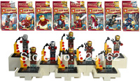 Iron Man 8 styles, SY185 Super Heros Blocks Doll, Avengers Alliance, Children Assembled Building Blocks Toys.