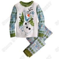 New Arrival 2014 Frozens Olaf Pajama Set Kids Clothing Children Nightie/Pyjamas Clothing Sets