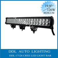 "Free Shipping !!! 126W 20"" 12V/24V DC Cree Led Work Light Bars"