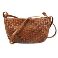 2014 New Vintage Women Bag Fashion Woven Casual Genuine Leather Cowhide Women Shoulder Bag Messenger Bag Bags For Women B129