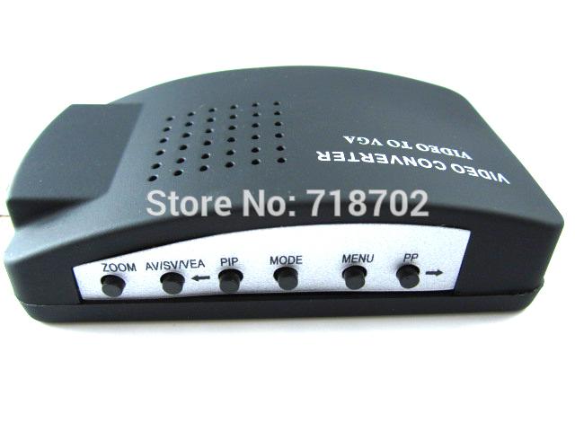 Free shipping 5pcs New CCTV S-Video BNC Video to PC VGA Monitor Adaptor Converter Conversion Box(China (Mainland))