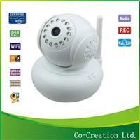 New Plug&Play Wireless WiFi WPA Network Webcam IP Internet Camera Dual Audio Pan Tilt Night Vision IR Home Security Surveillance
