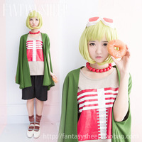2014 Seconds Kill Hot Sale Freeshipping Adult Women Cotton Knitted Vocaloid Family Deadline Circus Megpoid Gumi Cosplay Costume