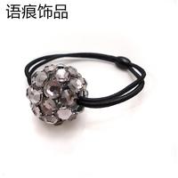 Accessories hair accessory headband the first ring rubber band rhinestone hair band hair accessory hair accessory d25