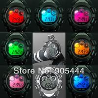 New OHSEN 8 Color Black led Day Date Alarm Digital Quartz Womens Wrist Silicone Band Watch W070