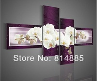 From Artist Directly !! Best Quality Original Orchid Flower  100% Handmade Modern FLower Oil Painting On Canvas Wall Art ! TH003
