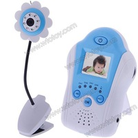 Wireless Baby monitor,2.4GHz digital video baby monitor, 1.5inch baby monitor with flower-shaped camera