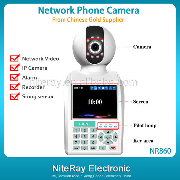 Remote Control Network Phone Camera Monitor House/ Apartment/ Factory etc Support Email Alarm Reminder(China (Mainland))