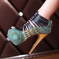 2014 16cm ultra high-heeled shoes high heels platform fashion open toe sandals female
