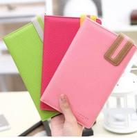 New 2014  women's long design PU passport bag documents folder ticket folder passport holder cover case,Free Shipping
