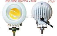 "Free FEDEX Shipping! 5Pieces/lot 4INCH 20W LED Work Light 9-32V Cree LED Fog Light 4"" CREE ATV Flood LED Driving Light Truck"