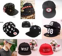 Free shipping flat-brimmed hat male female hiphop cap Baseball Cap hat exo