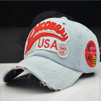 Summer denim baseball cap sunbonnet vintage hat female casual summer sun hat