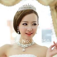 2014 Promotion Hot Sale Romantic Women The Bride Accessories Rhinestone Three Pieces Set Wedding Hair Accessory Bands Dsm6105