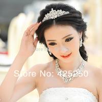 2014 Hot Sale Sale Women The Bride Accessories Luxury Wedding Married Bridal Set Decoration Rhinestone Chain Sets Necklace Piece